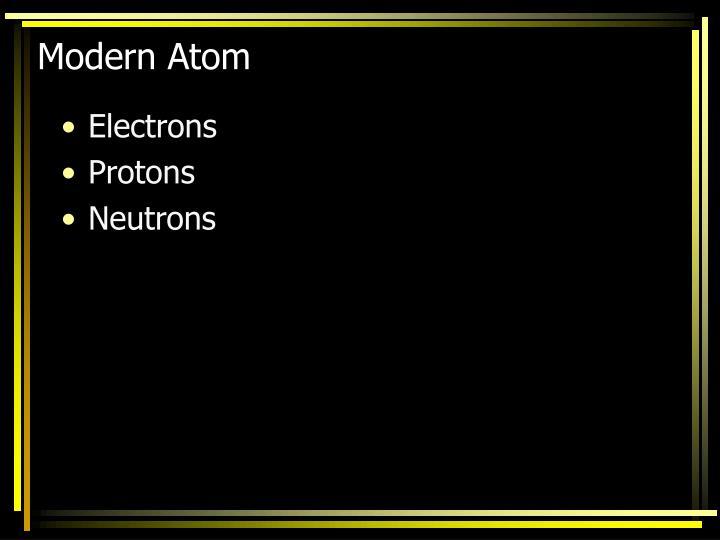 Modern Atom
