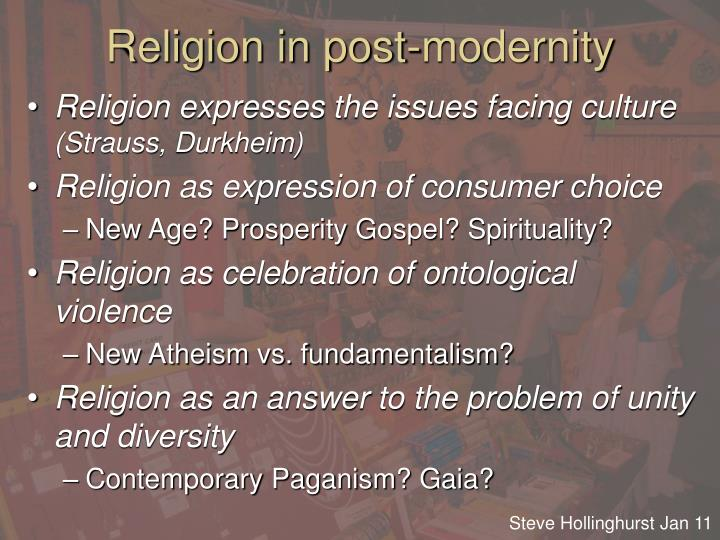 Religion in post-modernity