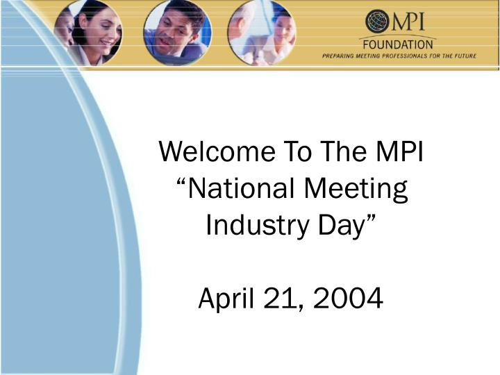 Welcome To The MPI