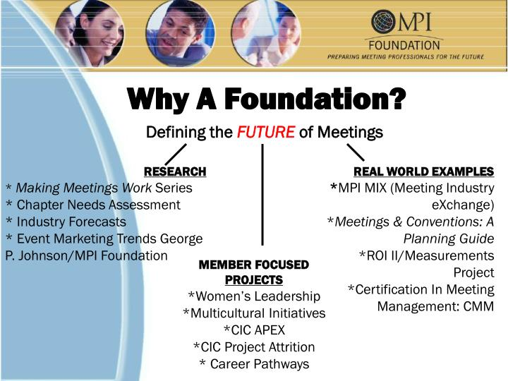 Why A Foundation?