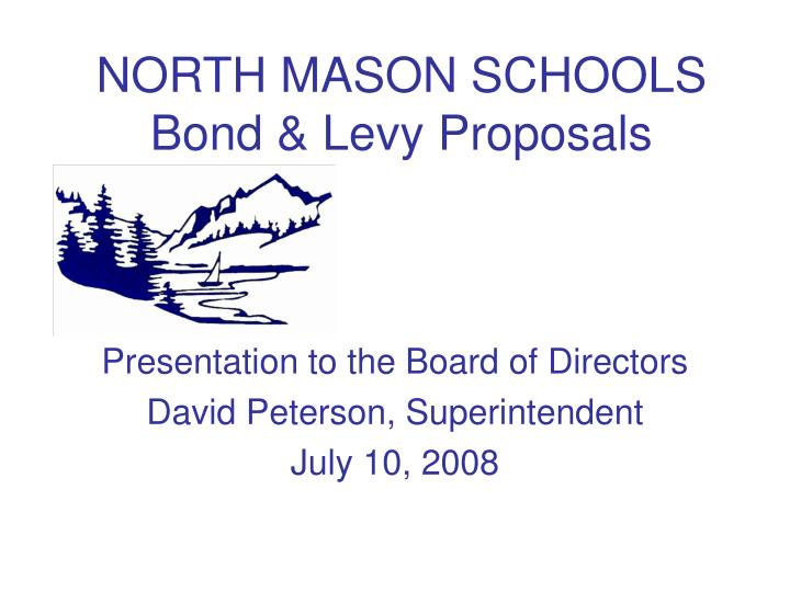 North mason schools bond levy proposals