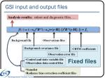 gsi input and output files