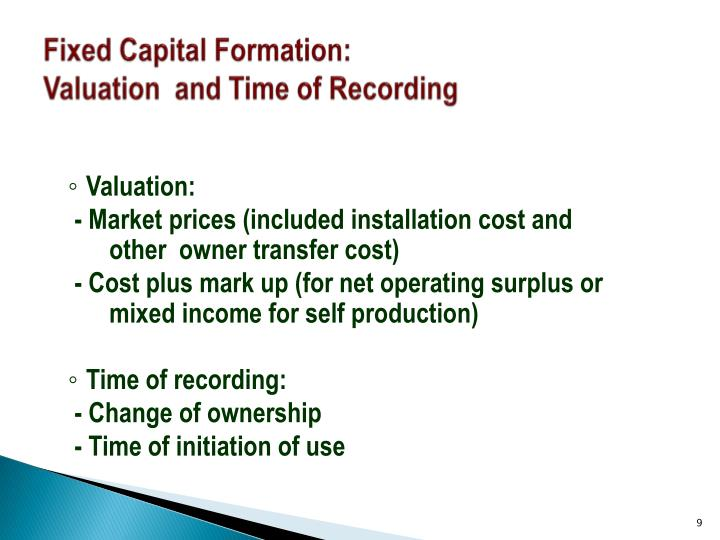 Fixed Capital Formation: