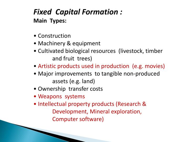Fixed  Capital Formation :