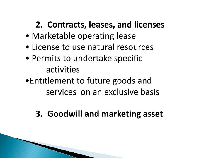 Contracts, leases, and licenses