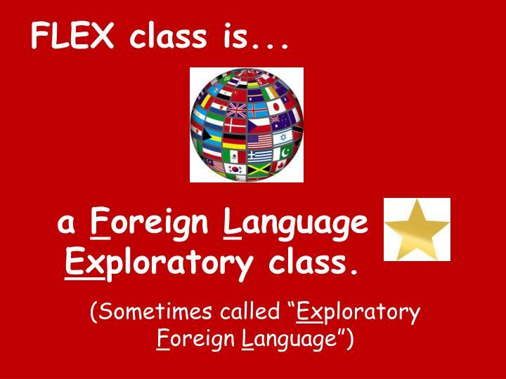 FLEX class is...