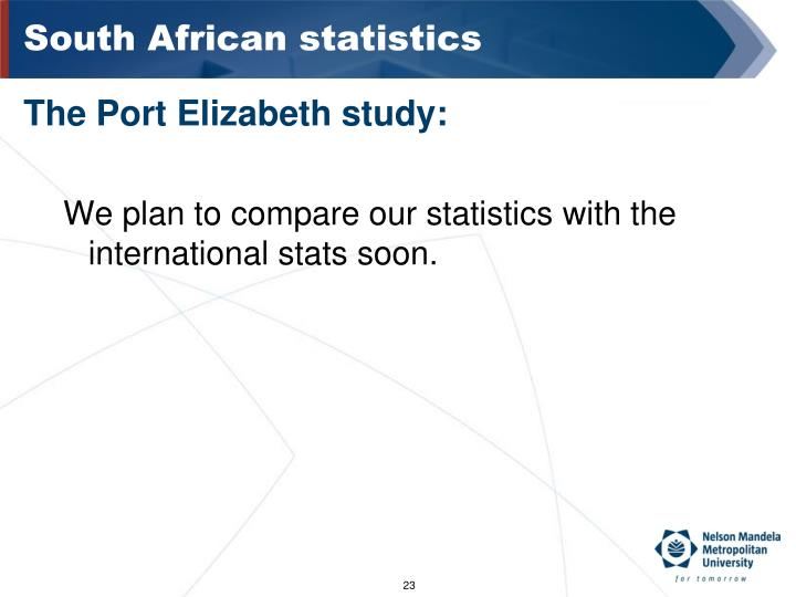 South African statistics