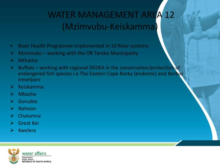 WATER MANAGEMENT AREA 12