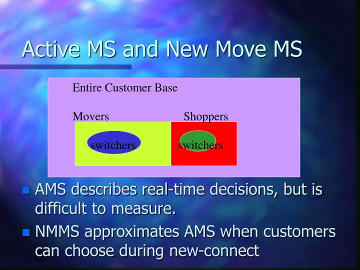 Active MS and New Move MS