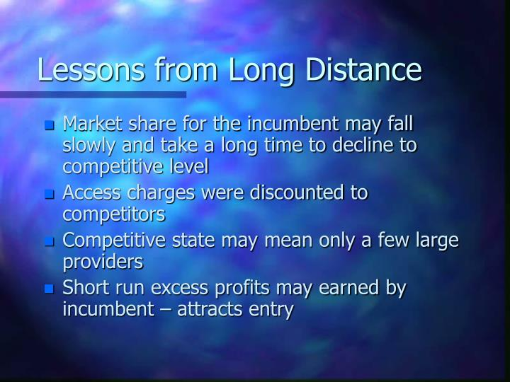 Lessons from Long Distance
