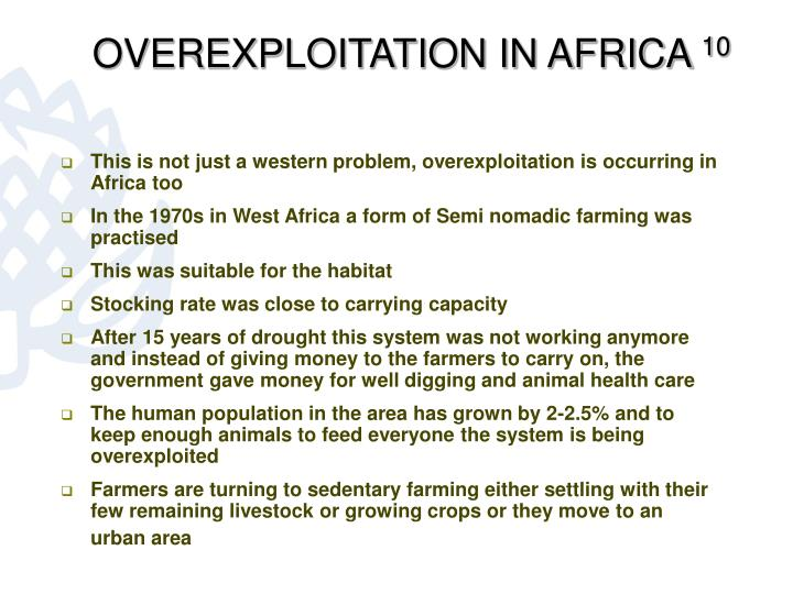 OVEREXPLOITATION IN AFRICA