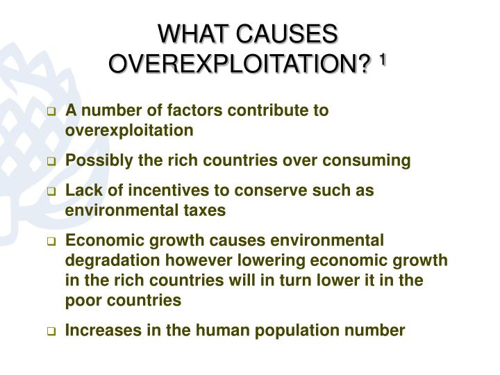 WHAT CAUSES OVEREXPLOITATION?