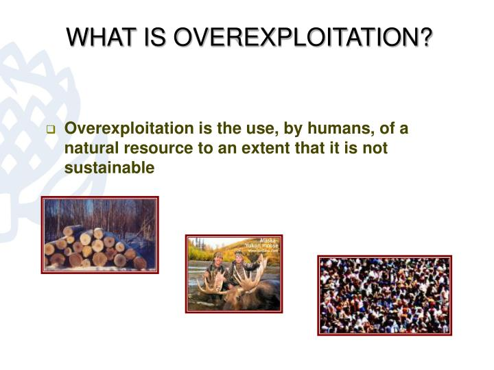 What is overexploitation