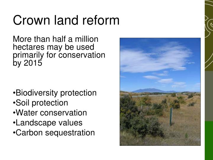 Crown land reform