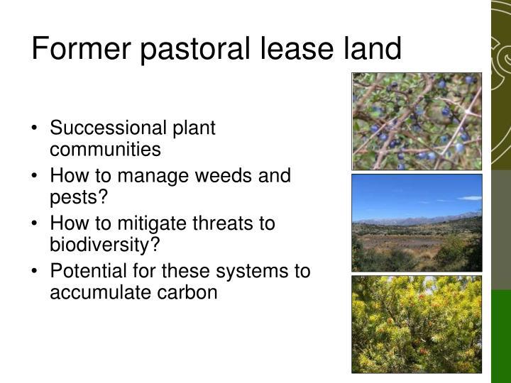 Former pastoral lease land