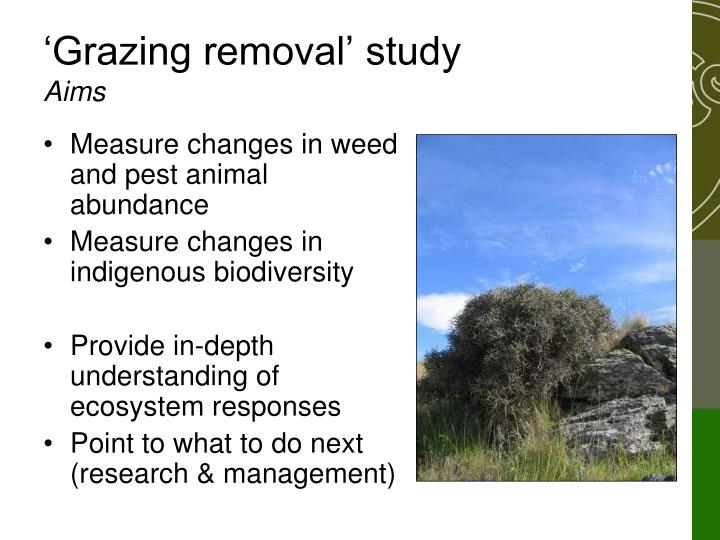 'Grazing removal' study