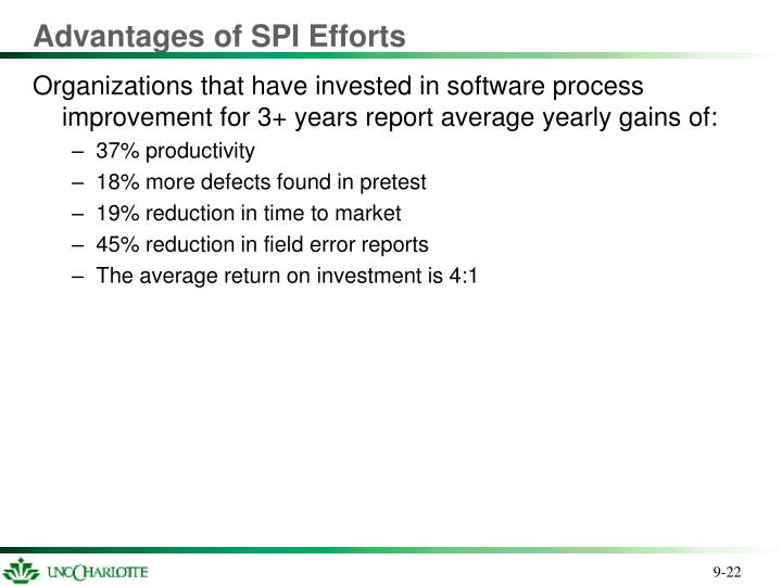 Advantages of SPI Efforts