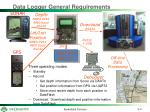 data logger general requirements
