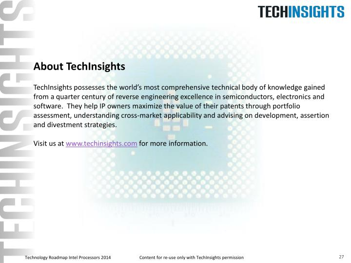 About TechInsights