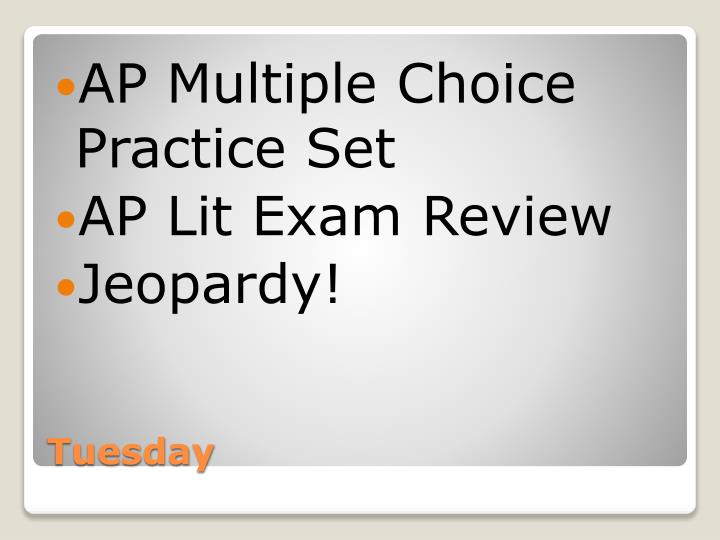 AP Multiple Choice Practice Set