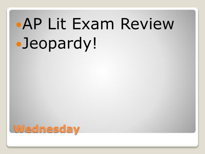 AP Lit Exam Review