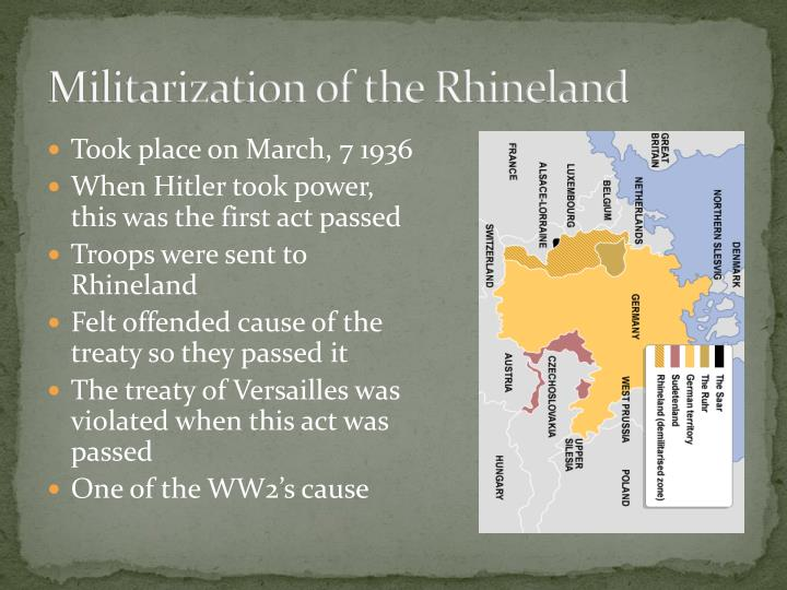 Militarization of the rhineland