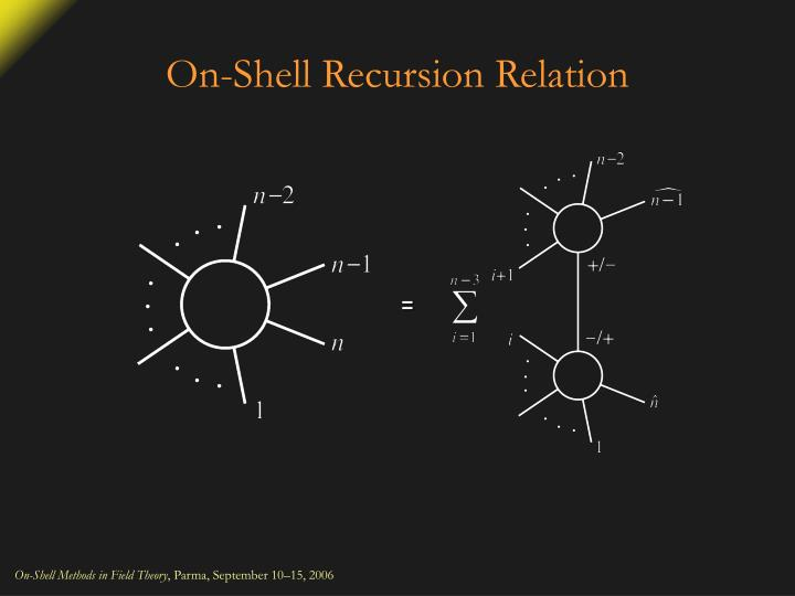 On-Shell Recursion Relation