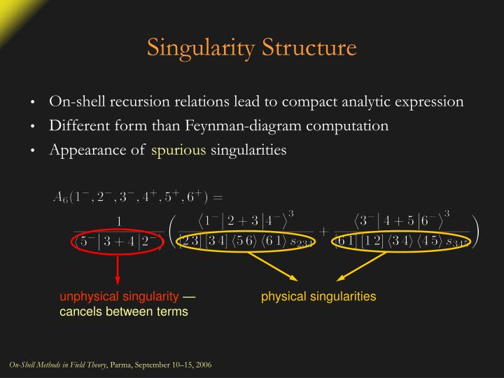 Singularity Structure