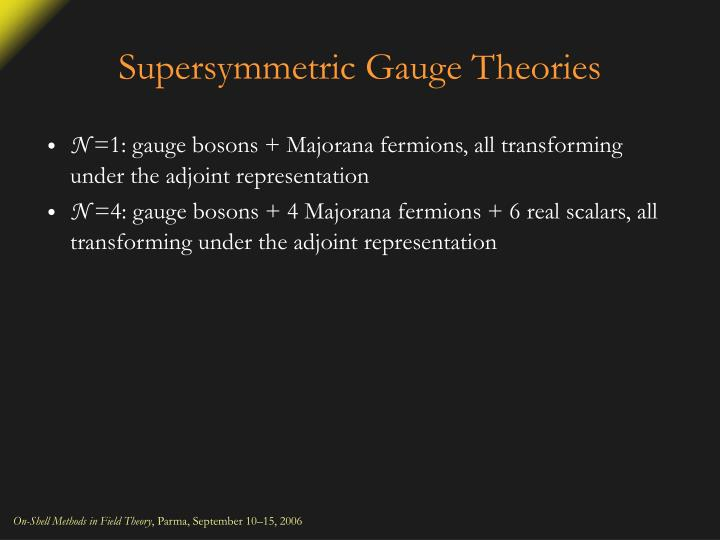 Supersymmetric Gauge Theories