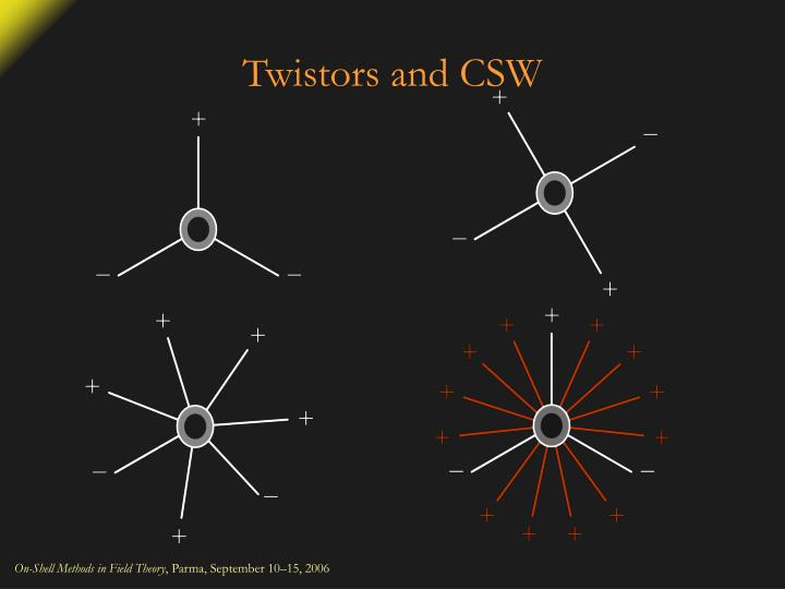 Twistors and CSW