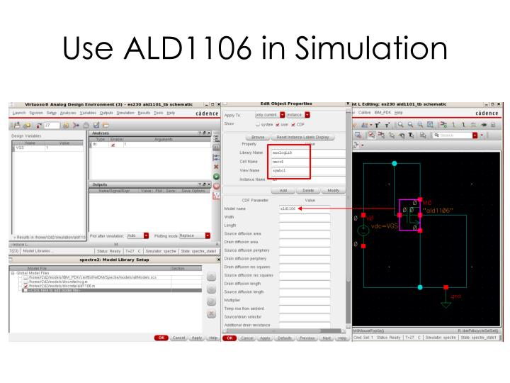 Use ALD1106 in Simulation