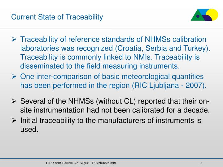 Current State of Traceability