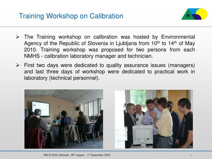 Training Workshop on Calibration