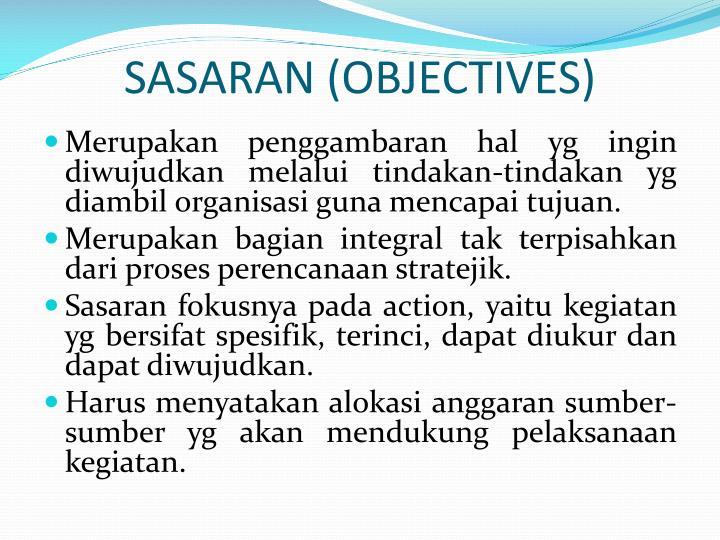 SASARAN (OBJECTIVES)