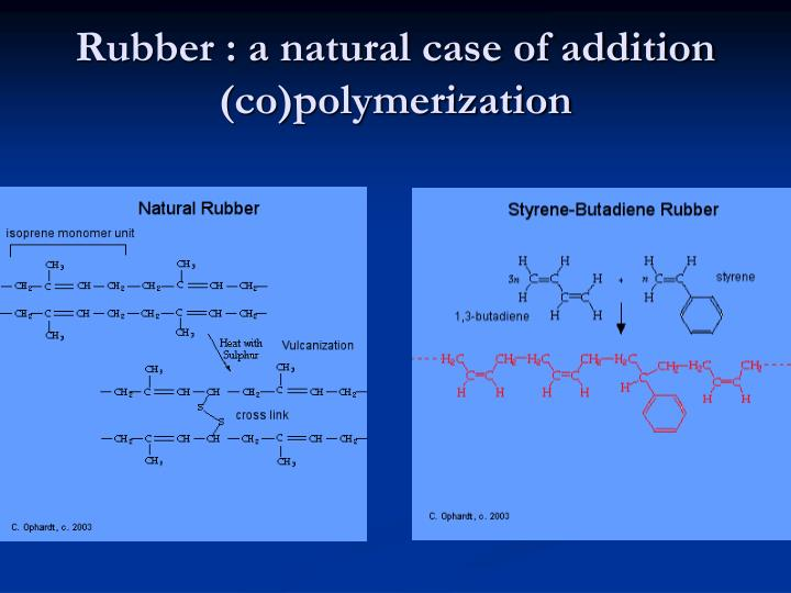 Rubber : a natural case of addition (co)polymerization