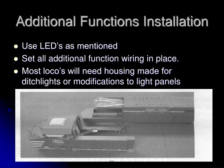 Additional Functions Installation