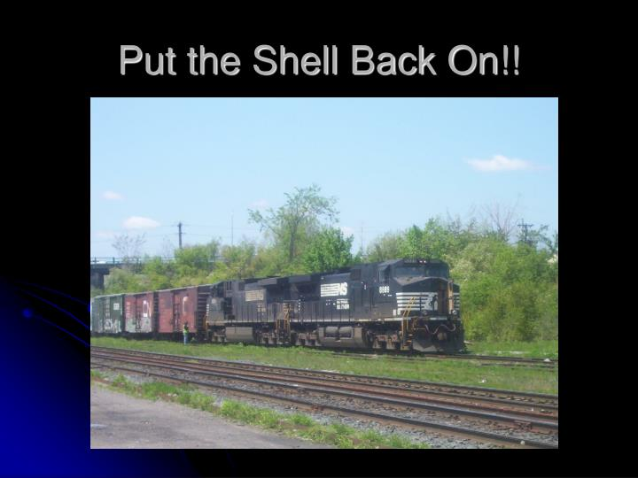 Put the Shell Back On!!