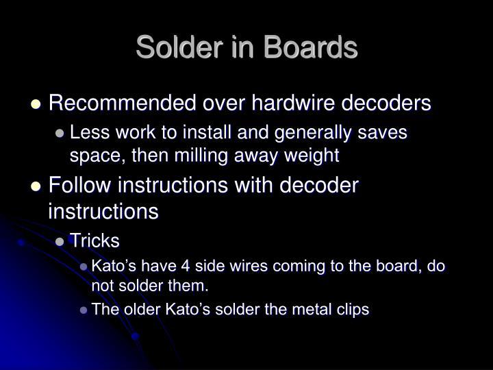 Solder in Boards