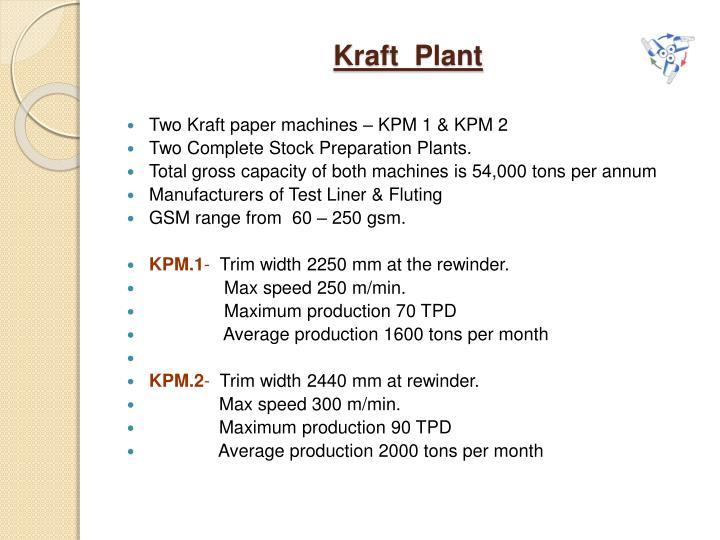Kraft  Plant