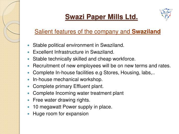 Swazi Paper Mills Ltd.