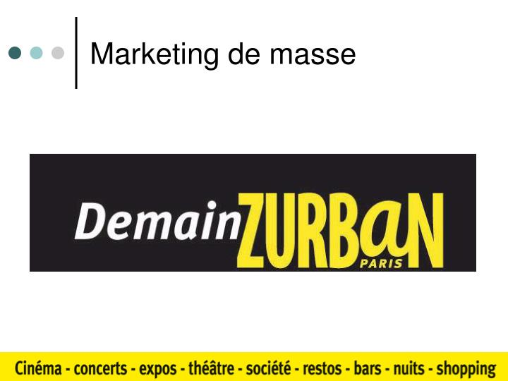 Marketing de masse