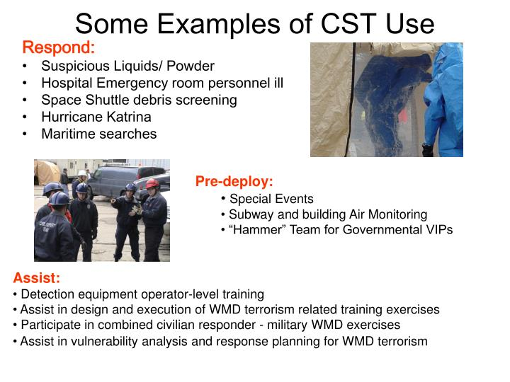 Some examples of cst use
