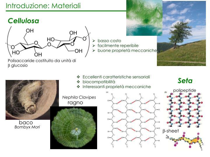 Introduzione: Materiali