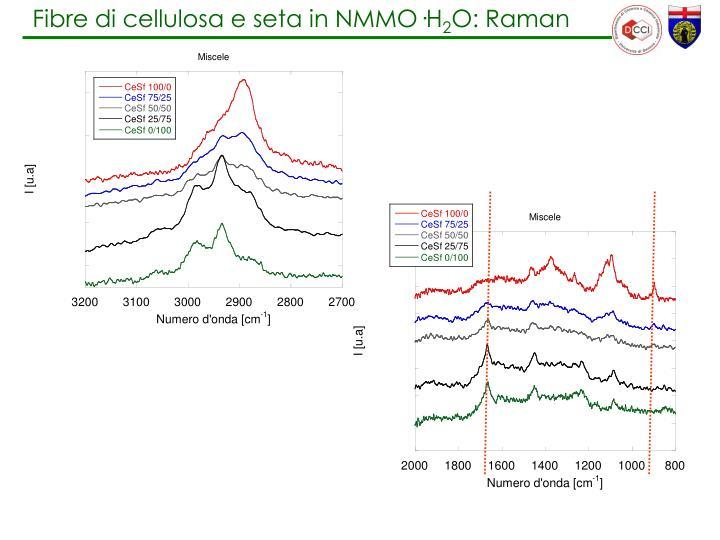 Fibre di cellulosa e seta in NMMO
