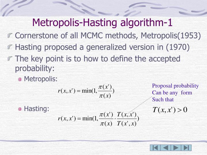 Metropolis-Hasting algorithm-1