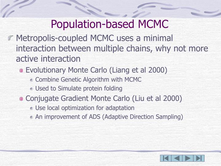 Population-based MCMC
