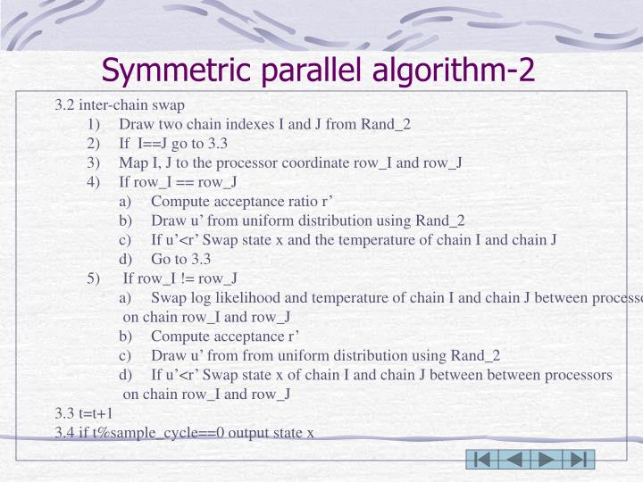 Symmetric parallel algorithm-2