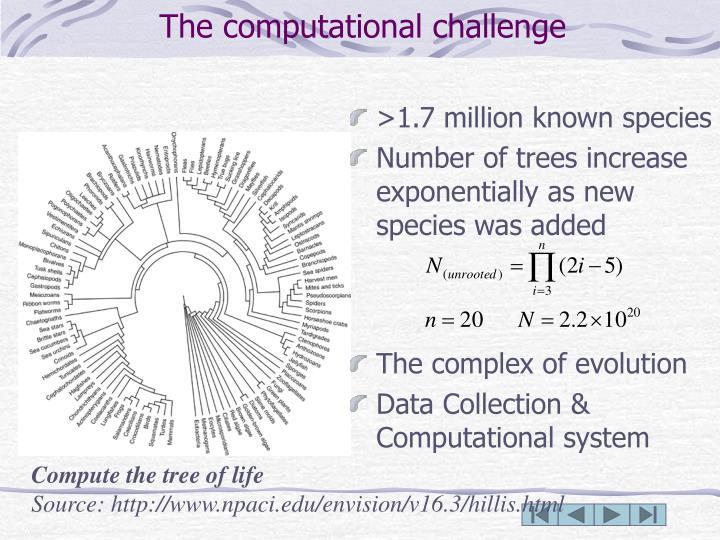 The computational challenge