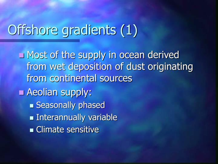 Offshore gradients (1)