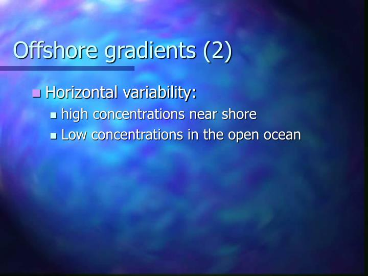Offshore gradients (2)